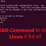 head command in linux